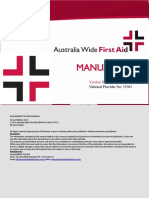 Australia Wide First Aid Manual
