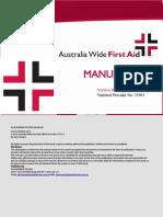 Australia Wide First Aid Manual