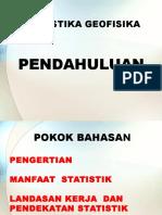 1. Pendahuluan Statistika Geofisika