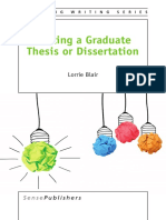 Writing a Graduate Thesis or Dissertation