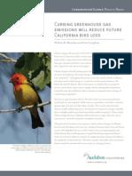 Curbing greenhouse gas emissions will reduce future California bird loss