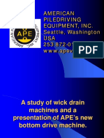 A Study of Wick Drain Machines