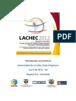 4a Conferencia Latinoamericana Caribe LACHEC2012 Voctubre2012