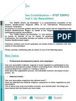 Call for Articles Contribution – IPSF EMRO What's Up Newsletter