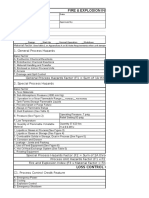 Dow F&E Index Worksheet Sample