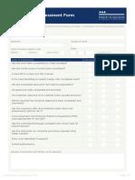 Maintenance Assessment Form
