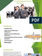 Características de La Administración de Los Recursos Humanos (Ronald Rodríguez)