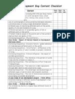 development gap revision checklist