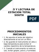 4manejo y Lectura de Estacion Total South
