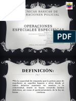 OPERACIONES ESPECIALES ESPECIFICAS