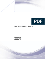 IBM SPSS Statistics Base 24