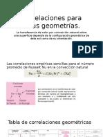 Correlaciones Para Otras Geometrías