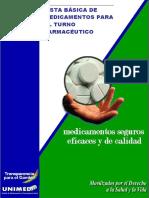 Lista Basica de Mediamentos Para El Turno Farmaceutico