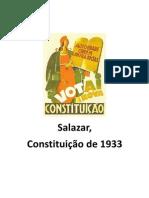 Salazar, Constituição de 1933