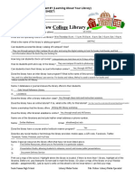 my college library worksheet