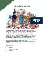 Cómo Hacer Perfume en Casa