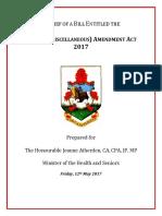 170512 Health (Miscellaneous) Amendment 2017 Second Reading Brief