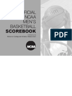 NCAA Men Scorebook