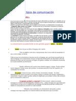Definición y Tipos de Comunicación
