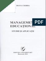 Management Educational. Studii Si Aplicatii - Diana Csorba