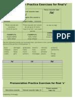 9114 Pronunciation of Final s