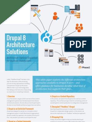 Drupal Architecture Whitepaper | Drupal | Websites