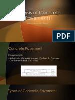 Analysis of Concrete Pavements