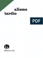Mandel Ernest - El Capitalismo Tardio