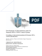 Development of Demonstration Units for Siemens SPPA T3000 Control System