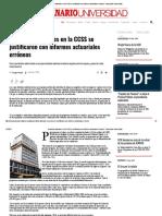 8-Beneficios Laborales de Ccss Se Justificaron Con Informes Actuariales Errónesos