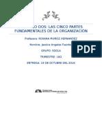 Capitulo 2 Las Cinco Partes Fundamentales de La Organización.