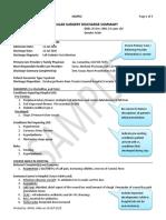 Good Discharge Summary Sample -Surgery