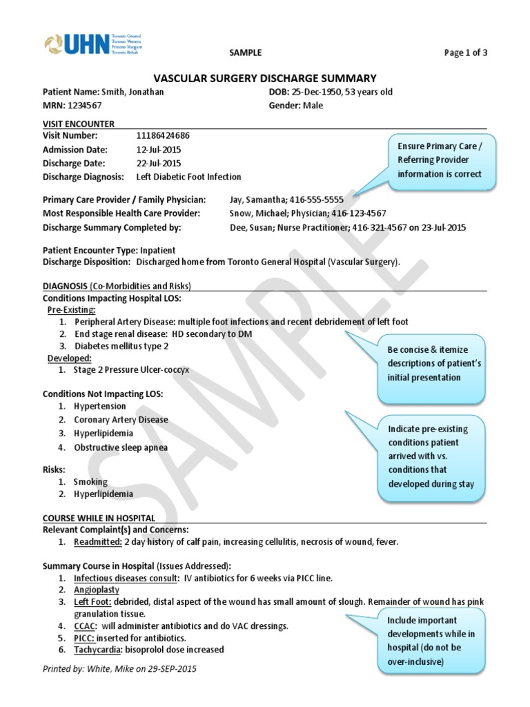 Charming Discharge Summary Template Ideas - Entry Level Resume ...