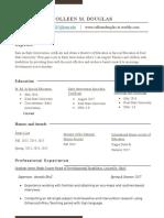 colleen m douglas- resume