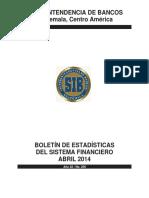 04 Boletín Mensual de Estadísticas Abril 2014