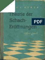 Keres - Theorie Der Schacheröffnungen 1. Offene Spiele (1952)