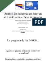 Análisis de esquemas de color en el diseño de interfaces de usuario