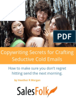 Sales Folk Seductive Cold Emails Copywriting Guide Secrets