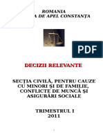 Sectia Civila - Decizii Relevante Trimestrul I 2011 (1)