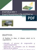 Evaporación y Evapotranspiración Potencial
