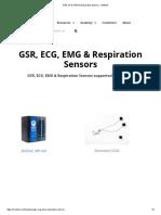 GSR, ECG, EMG & Respiration Sensors - IMotions
