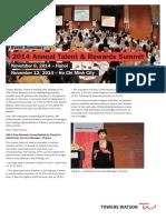 2014 Annual Talent Rewards Summit Vietnam Event Summary (1)