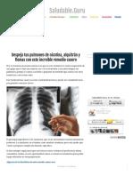 Despeja Tus Pulmones de Nicotina, Alquitrán y Flemas Con Este Increíble Remedio Casero - Saludable