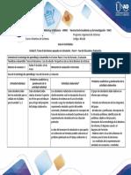 Guía de Actividades y Rúbrica de Evaluación - Paso 4 - Fase de Discusión y Evaluación.