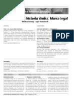 La Historia Clínica. Marco Legal