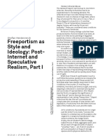S. Heidenreich - Freeportism as Style and Ideology, Post Internet and Speculative Realism, Part I
