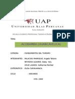 Acobamba Fundamentos Del Turismo