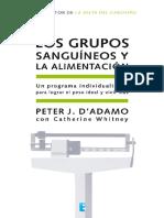 Grupos Sanguineos y Alimentación - Peter D'Adamo