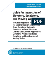ASME A17.2-2014 Guide for Inspection of Elevator, Escalator, And Moving Walks