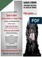 Cartel - Ganar o Morir. Lecciones Políticas en El Juego de Trono